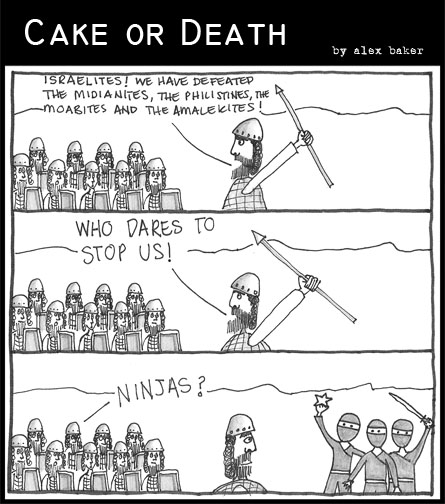 Cake or Death Cartoon 37 (10 Jan 2008)