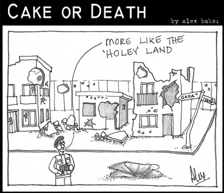 cake-or-death-cartoon-92-january-15-2009-holy-land-cartoon