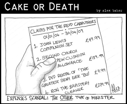 Cake or Death Cartoon 111 (May 14 2009  Expenses Cartoon)