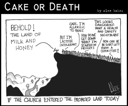 Cake or Death Cartoon 118 (July 2 2009 Promised Land Cartoon)