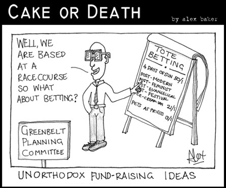 Cake or Death Cartoon 128 (Cartoon betting September 3 2009)