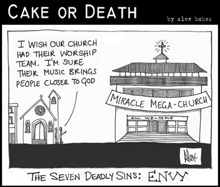 Cake or Death Cartoon 129 (Cartoon Envy September 10 2009)