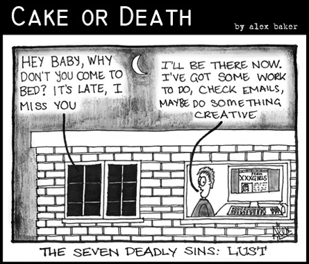 Cake or Death Cartoon 132 (Cartoon Lust September 24 2009)