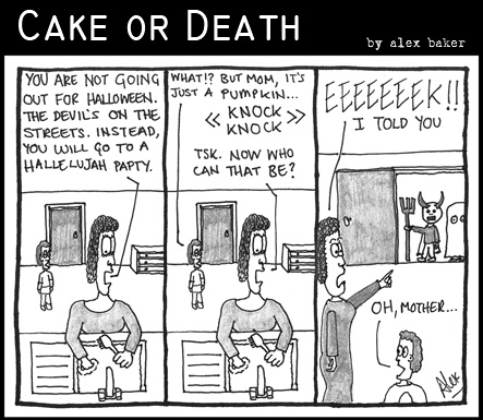 Cake or Death Cartoon 136 (Cartoon Halloween October 29 2009)