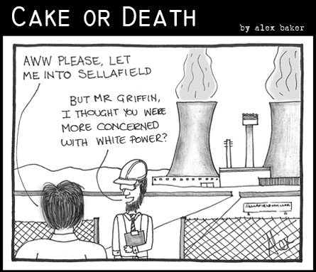 Cake or Death Cartoon 138 (White Power Cartoon November 12 2009)